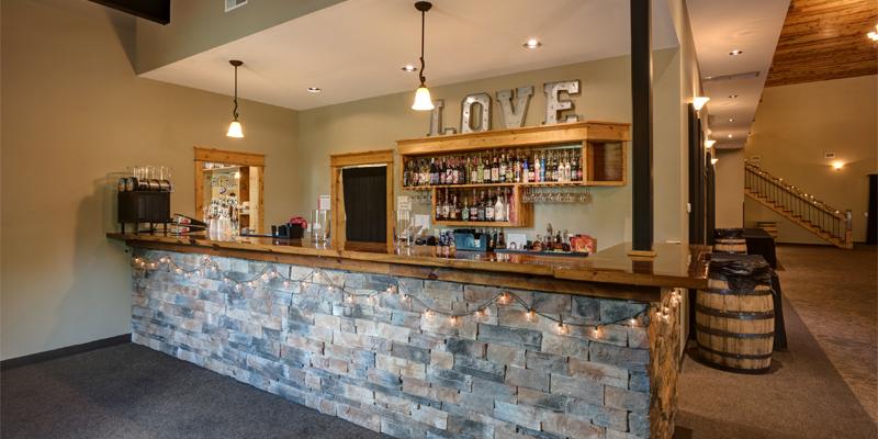 banquet hall image at Lake Hill Winery