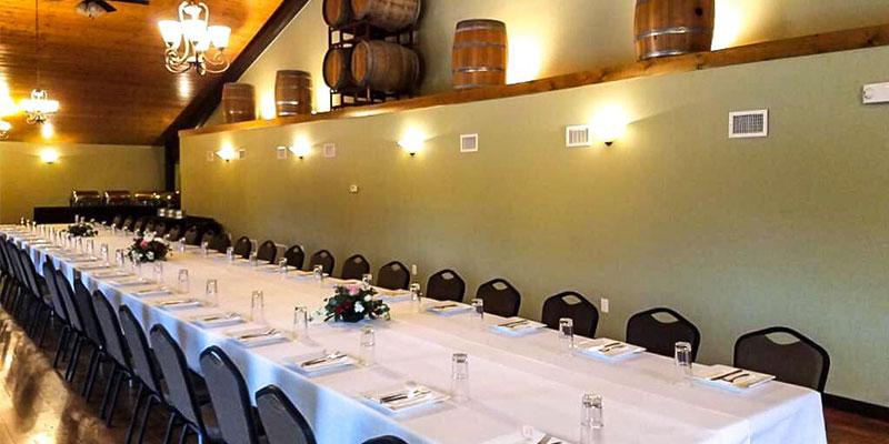 barrel room image at Lake Hill Winery