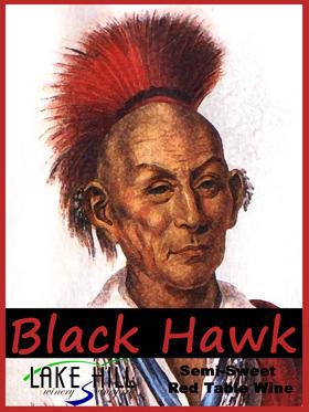 Black Hawk Wine Bottle