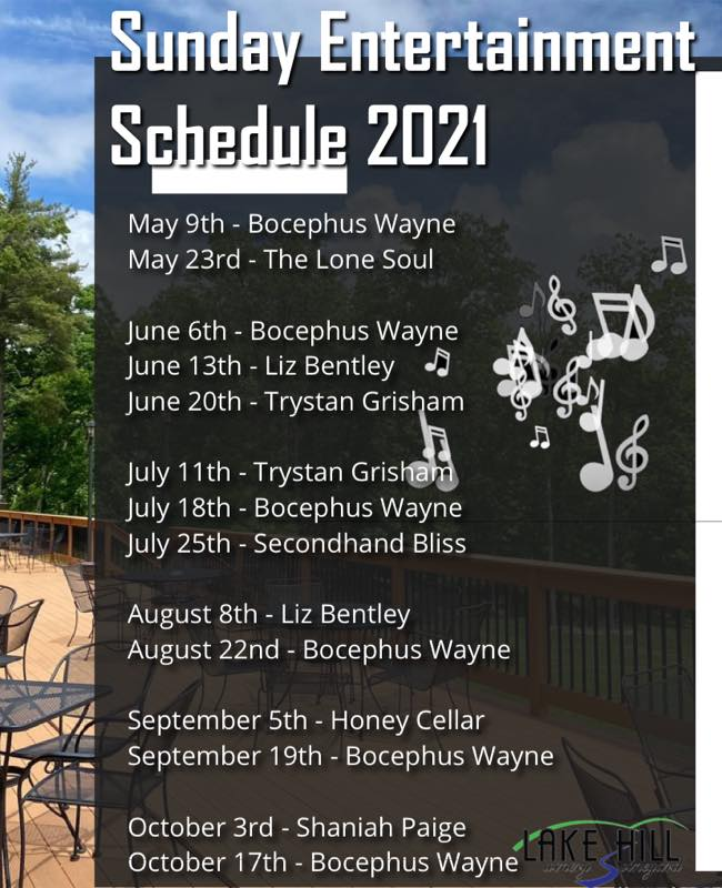 Sunday Events for 2021